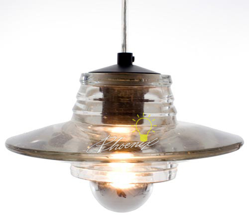 Pressed Glass Pendant - Lens modern-pendant-lighting