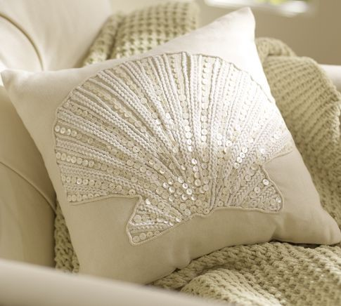 Jewel Clamshell Pillow - traditional - pillows - by Pottery Barn