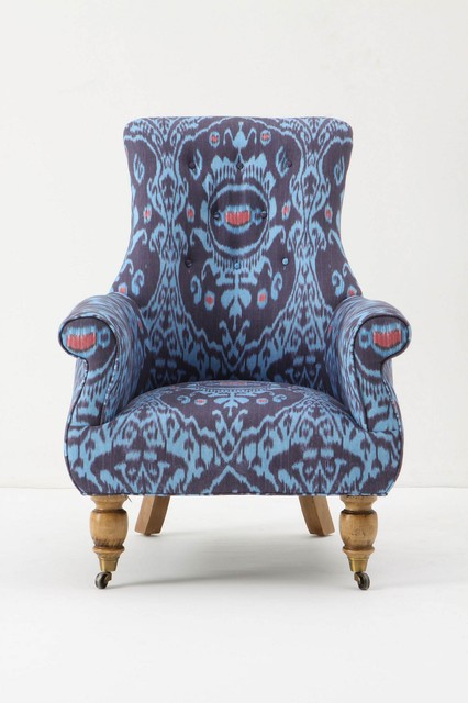 Astrid Chair, Nile Ikat eclectic-living-room-chairs
