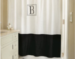 Monogrammed Classic Shower Curtain traditional-shower-curtains