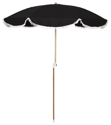 Pom-pom Umbrella eclectic outdoor umbrellas
