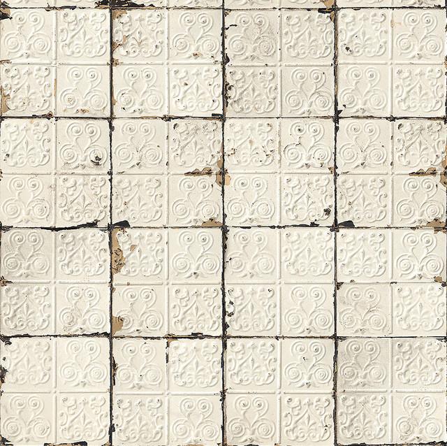 vintageinspired brooklyn tin tiles wallpaper eclectic
