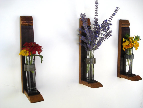Wall Hanging Flower Holders by Wine Country Craftsman contemporary vases