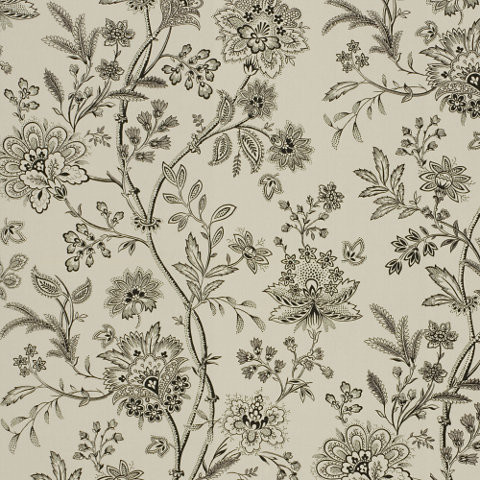 Langley Floral - Cream/Black Wallpaper traditional wallpaper
