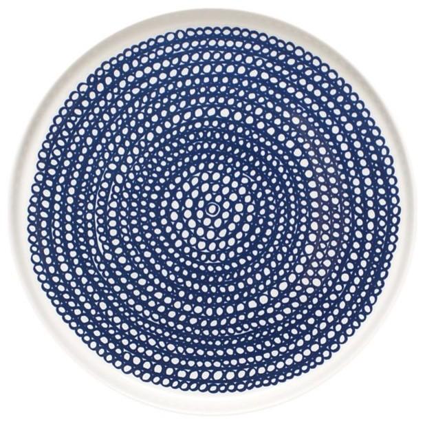 Marimekko Siirtolapuutarha Blue And White Plate Modern