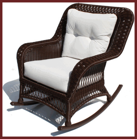 Princeton Outdoor Wicker Rocker Traditional Outdoor Lounge Chairs Other
