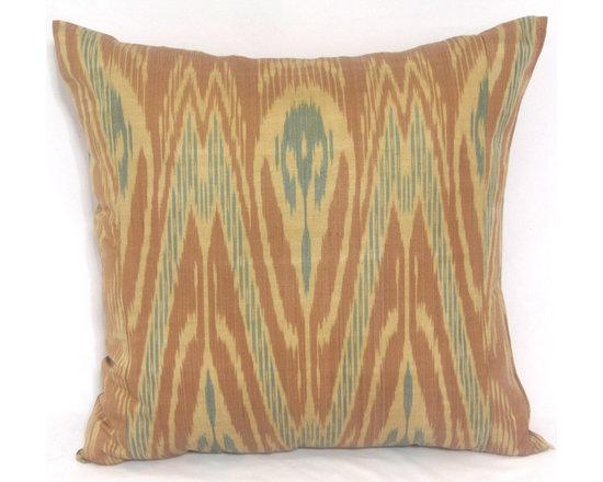 ikat pillow covers, ikat, ikat cushion, yellow ikat, blue ikat, red ikat, ikat - brown ikat pillow cover