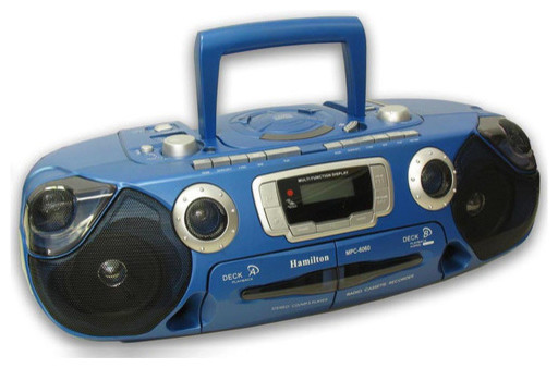 Portable CD Player with Dual Cassette and Radio - Modern ...