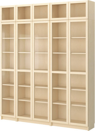 BILLY Bookcase with glass-door - Scandinavian - Bookcases - by IKEA