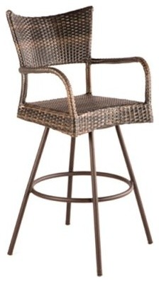 Alfresco Home Tutto All-Weather Wicker Bar Stool - Set of 2 modern-patio-furniture-and-outdoor-furniture