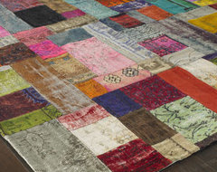 Mona Patchwork Rug, 10 x 14 traditional rugs