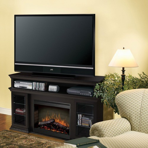 bennett 66 tv stand with electric fireplace modern