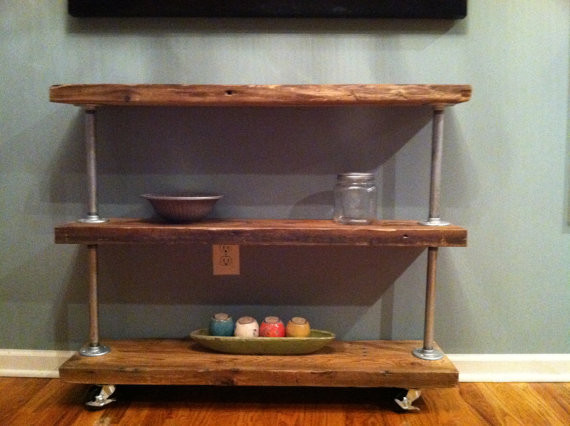 Rustic Modern Utility Cart III by Tyler Kingston Wood Co. traditional-bar-carts