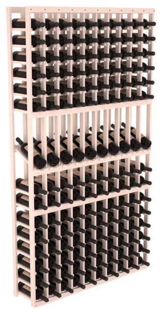 10 Column Display Row Wine Cellar Kit in Pine, White Wash Stain contemporary-wine-racks