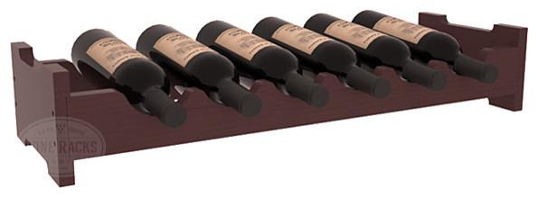 6 Bottle Mini Scalloped Wine Rack in Pine with Walnut Stain + Satin Finish traditional-wine-racks