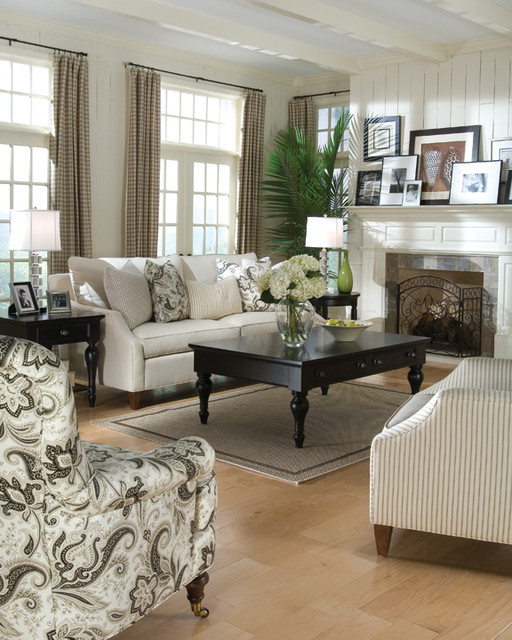 Living room scenes beach-style-sofas