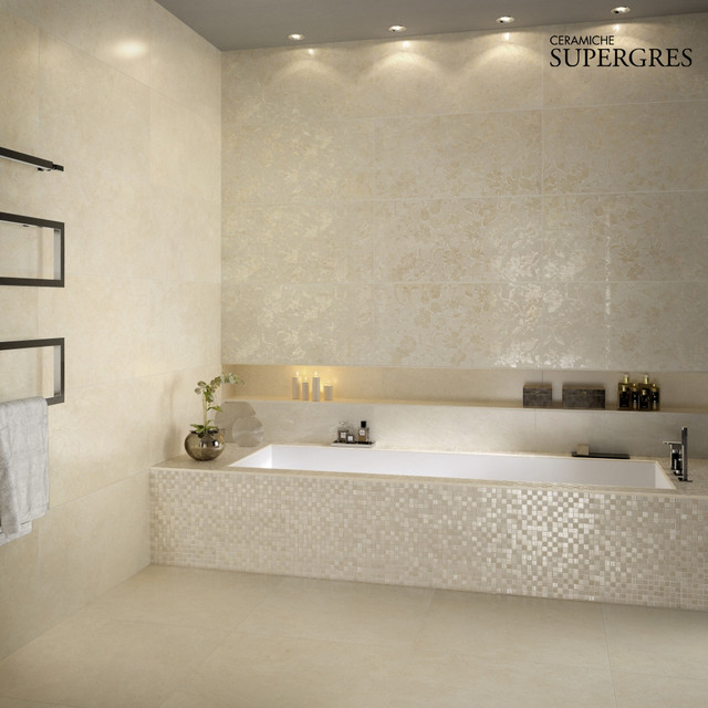 Bathroom Tiles Marble Effect Traditional Tile Other