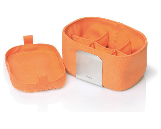 Blomus - Desa Egg Basket Organizer - Orange - The Desa Egg Basket available in multiple colors. Keeps up to 6 boiled eggs warm for up to 45 minutes. Fabric machine wash safe (40 - 100 degrees F).