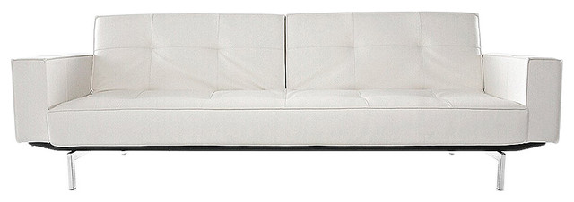 Innovation Living Oz Deluxe White Leather Sofa contemporary-sofas
