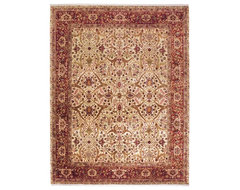 isfahan rug, ivory/red traditional rugs