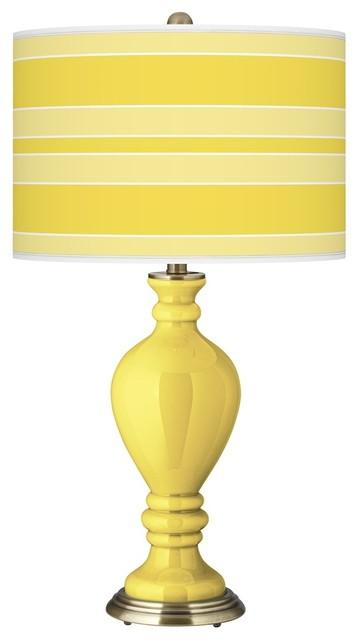 Contemporary Lemon Twist Bold Stripe Civitia Table Lamp modern-table-lamps