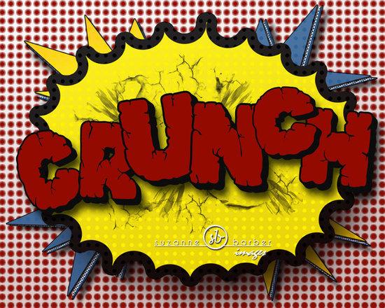 11x14 Print of Comic Book Sound Crunch   Original Design - superhero theme room -