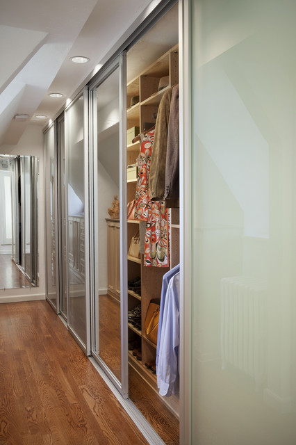 Tall Sliding Closet Doors with Mirrored Glass eclectic-interior-doors