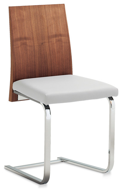 Jeff-SL Dining Chair, Wenge/White (Set of 2) modern-dining-chairs