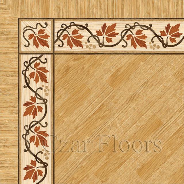 Wood Floor Borders Collection - Hardwood Flooring - philadelphia - by Czar Floors