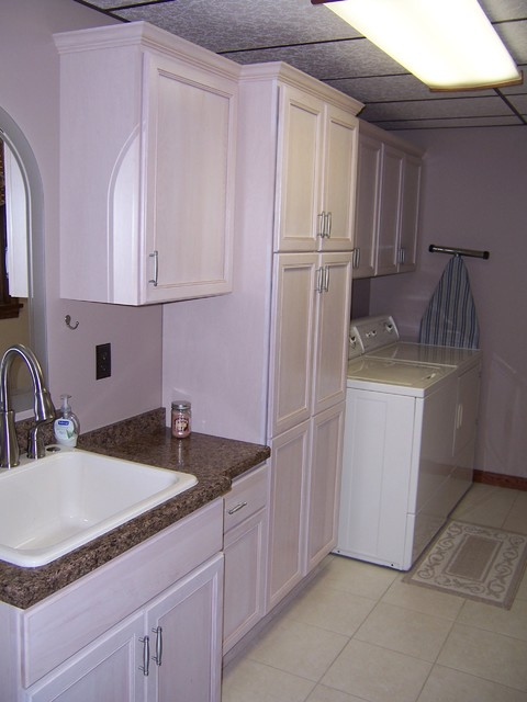 Small Laundry Room traditional-kitchen-cabinets