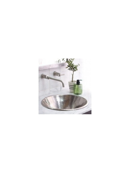 Cazo In Brushed Nickel - Cazo In Brushed Nickel - The Cazo copper sink is made from recycled copper as are all Native Trails sinks, tubs and accents. Artisan crafted with fair trade practices, the Cazo vessel sink can be used as a self rimming sink or an above counter sink.