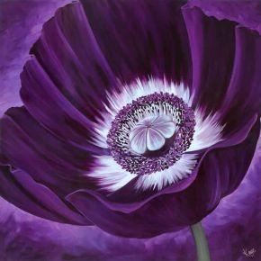 Purple Flower Canvas prints modern-artwork