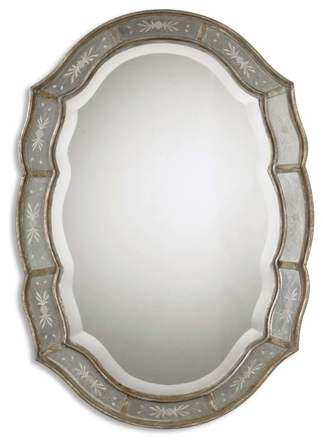 Fifi Etched Antique Gold Mirror traditional-wall-mirrors