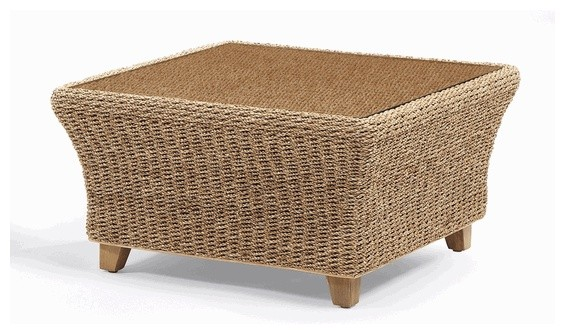 Island way seagrass coffee table traditional coffee for Seagrass coffee table