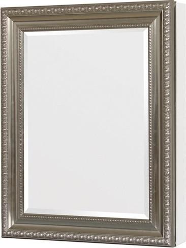 ... Deco Framed Medicine Cabinet, Brushed Nickel modern-medicine-cabinets