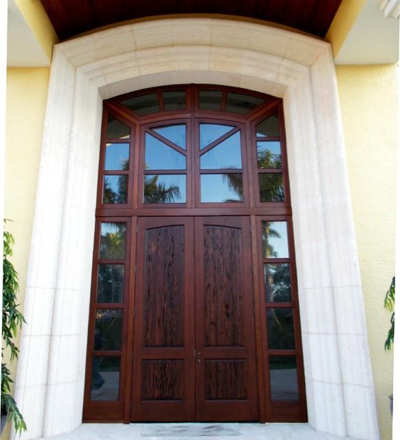 Pecky Cypress Hurricane Impact Front Door Craftsman