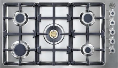 """QB36 5 00 X Professional Series 36"""" Wide 5 Burner Cooktop  Continuous Grates  El contemporary-cooktops"""