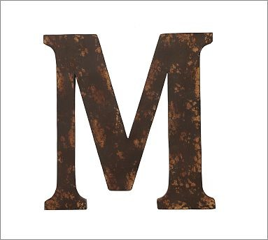 Metal Letter, M traditional-decorative-pillows