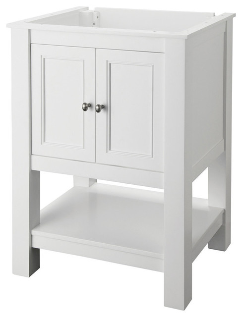 Foremost Gazette 24Inch x 18Inch Vanity Cabinet Only in White  Contemporary  Bathroom