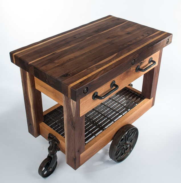 Butcher 39 S Block Cart Eclectic Kitchen Islands And Kitchen Carts Nashville By Walnut Wood