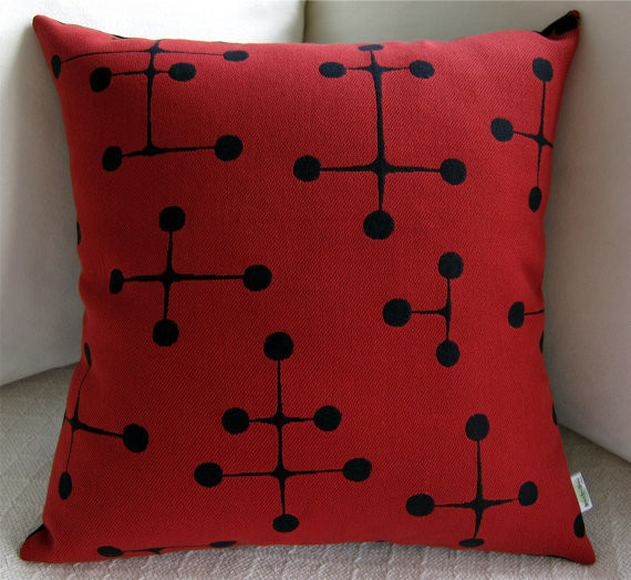 Mid Century Throw Pillow : Eames Midcentury Modern Pillow Cover by Atomic Livin Home - Midcentury - Decorative Pillows ...