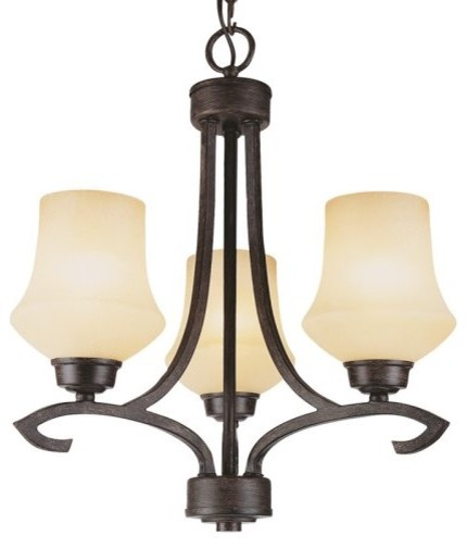 Bel Air Kortney 3 Light Chandelier-Down Hook-Arm contemporary-chandeliers