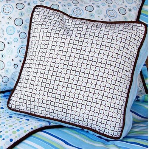 Classic Blue Square Pillow modern-decorative-pillows