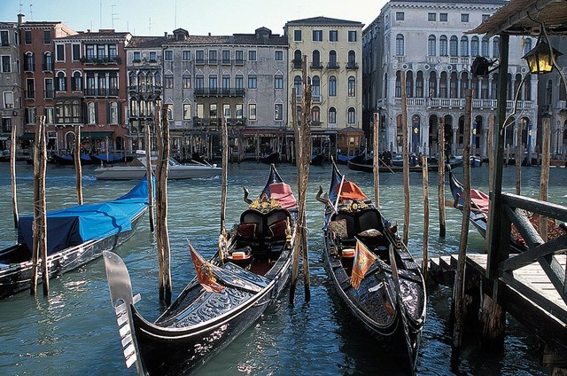 gondolas on grand canal venice wallpaper wall mural self