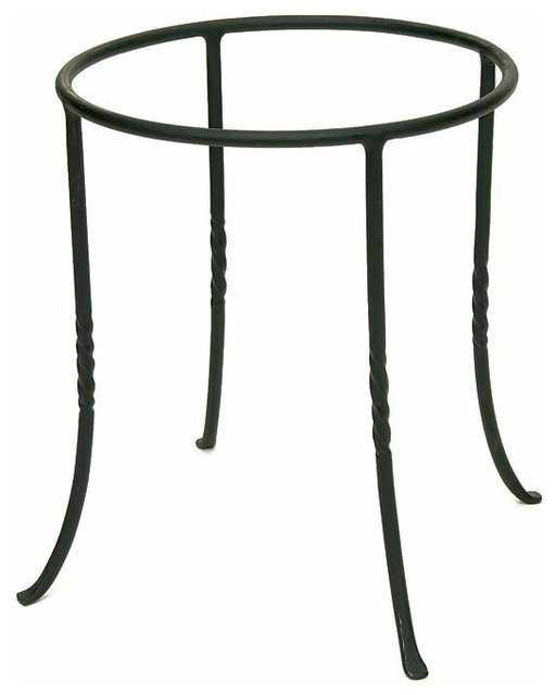 Iron Ring Planter Stand Contemporary Indoor Pots And
