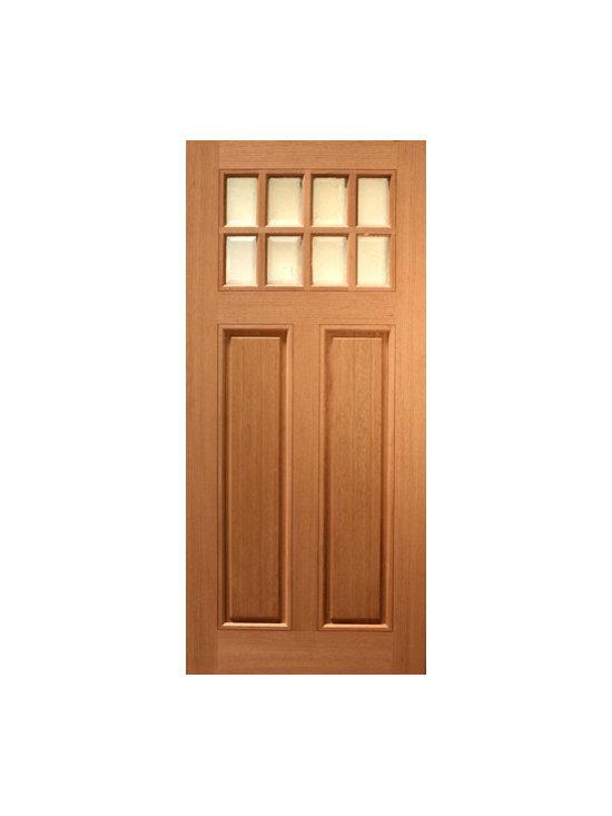 """36"""" x 80"""" (3'-0"""" x 6'-8"""") Mahogany Single Exterior Door, Arch 4 Lite - SKU#HTC-50_1BrandAAWDoor TypeExteriorManufacturer CollectionBudget DoorsDoor ModelDoor MaterialWoodgrainVeneerPrice500Door Size Options36"""" x 80"""" (3'-0"""" x 6'-8"""")  $0Core TypeDoor StyleCraftsmanDoor Lite Style8 LiteDoor Panel Style2 PanelHome Style MatchingCraftsman , Rustic , Southwest , PrairieDoor ConstructionPrehanging OptionsPrehung , SlabPrehung ConfigurationSingle DoorDoor Thickness (Inches)1.75Glass Thickness (Inches)Glass TypeGlass CamingGlass FeaturesGlass StyleGlass TextureGlass ObscurityDoor FeaturesDoor ApprovalsDoor FinishesDoor AccessoriesWeight (lbs)340Crating Size25"""" (w)x 108"""" (l)x 52"""" (h)Lead TimeSlab Doors: 7 daysPrehung:14 daysPrefinished, PreHung:21 daysWarranty"""