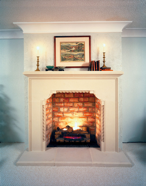 Brentwood Cast Stone Fireplace Mantel Traditional Indoor Fireplaces Dallas By Old World
