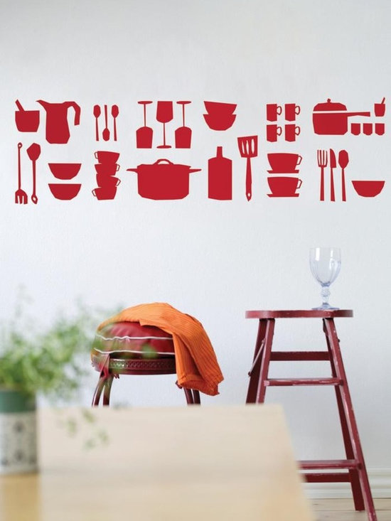 Ferm Living Kitchen WallSticker - With Ferm Living WallStickers it is easy to create a new look and change the style in a room in a matter of minutes.
