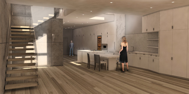 Apartment in TriBeCa contemporary-rendering