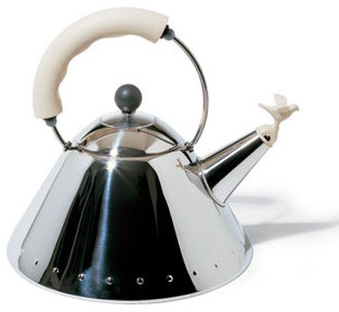 Alessi 9093 Kettle with Bird Whistle (White) modern-coffee-makers-and-tea-kettles